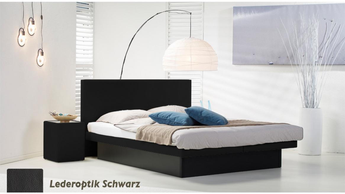 wasserbett luxus pro podest lederoptik schwarz
