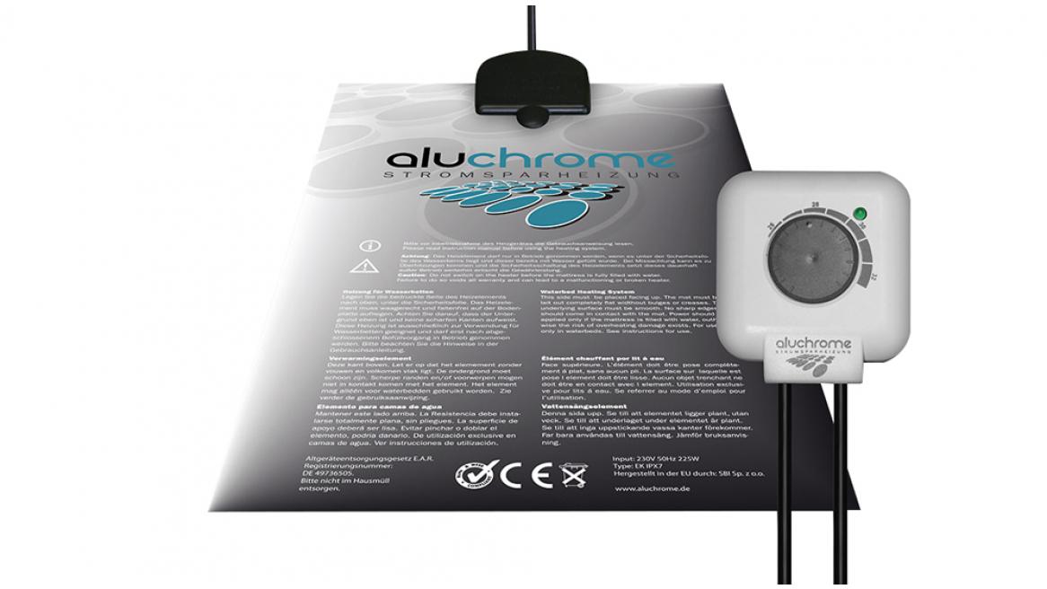 Wasserbett Heizung Aluchrome Analog mit Thermostat