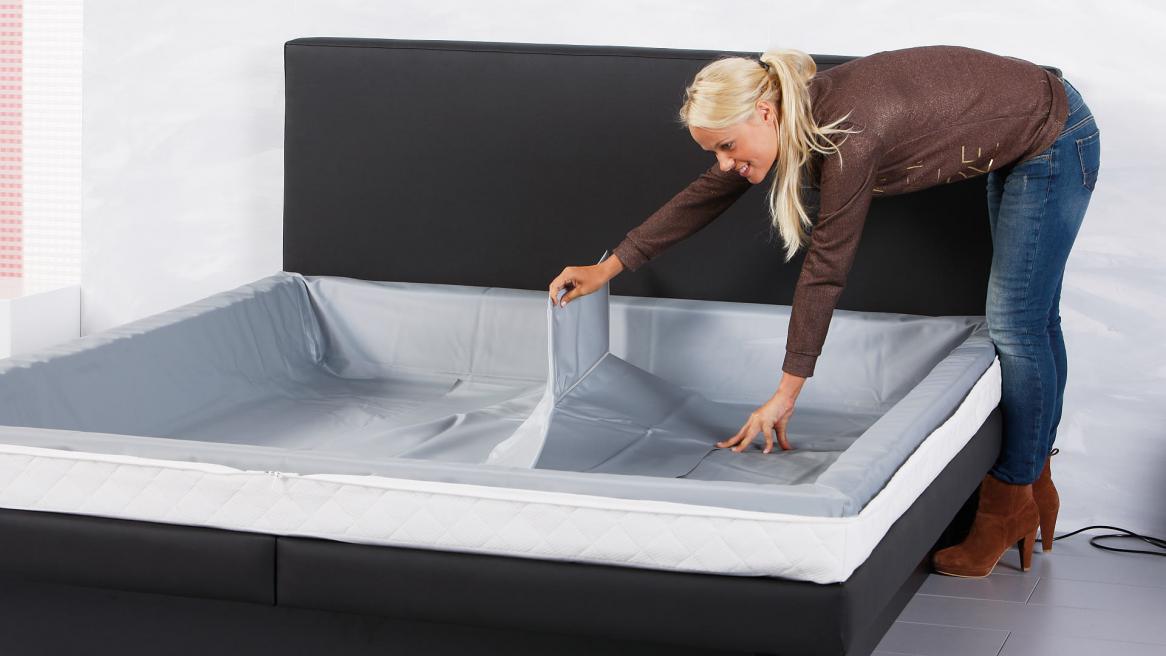 Wasserbett Luxus Pro Einlegen der Thermotrennwand