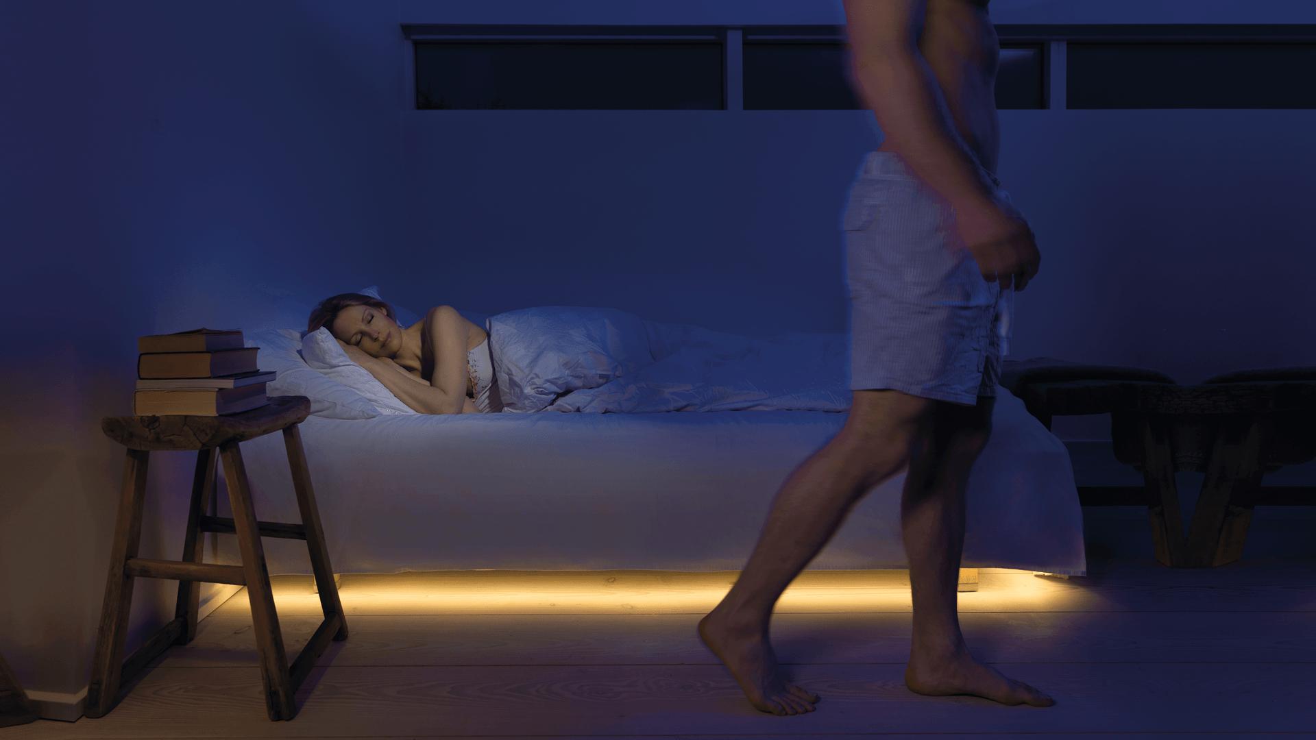 Mylight Bettbeleuchtung bringt Licht in die Finsternis