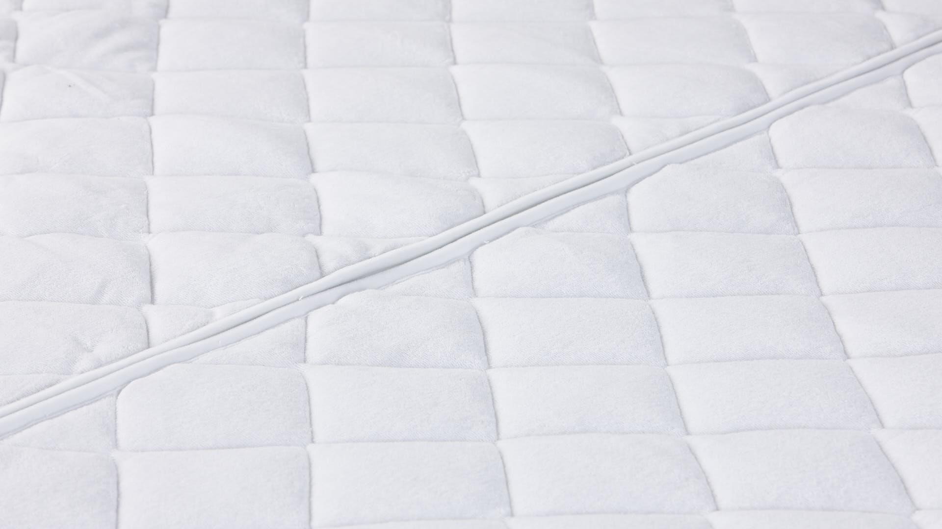 Wash-Cotton-Stretch Matratzenbezug Detailansicht von oben