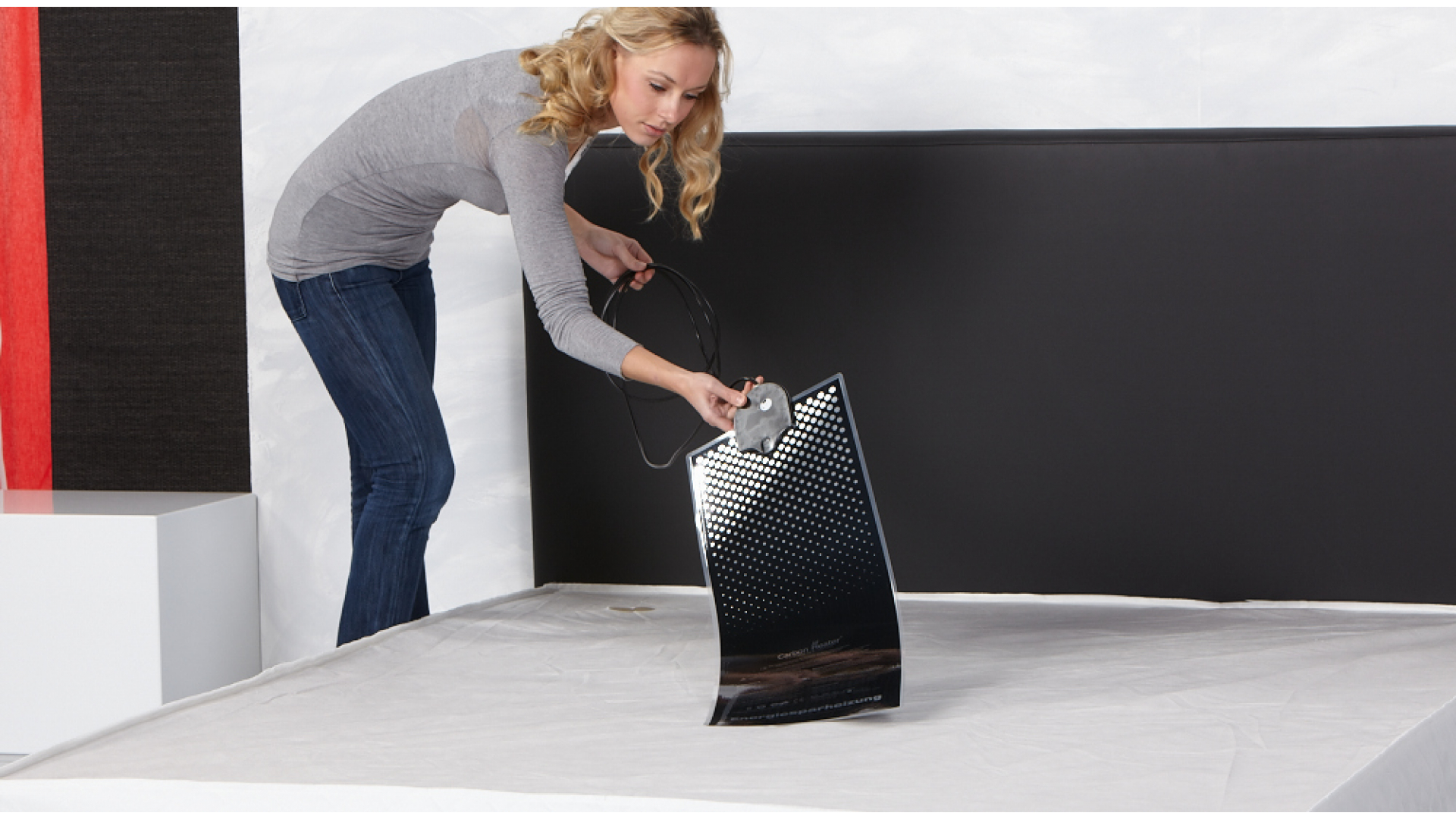 Wasserbettheizung Carbon IQ Digital ins Wasserbett einlegen