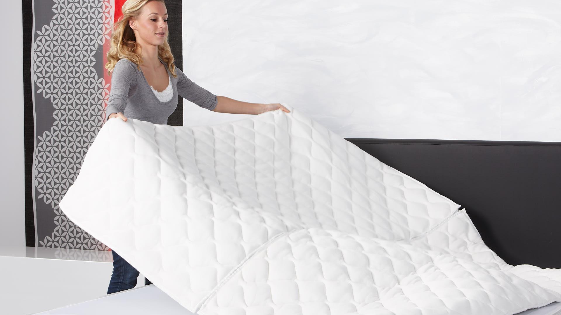 Luxuriöser Klima-Doppeltuch-Wasserbettbezug rundum mit Reißverschluss und teilbar