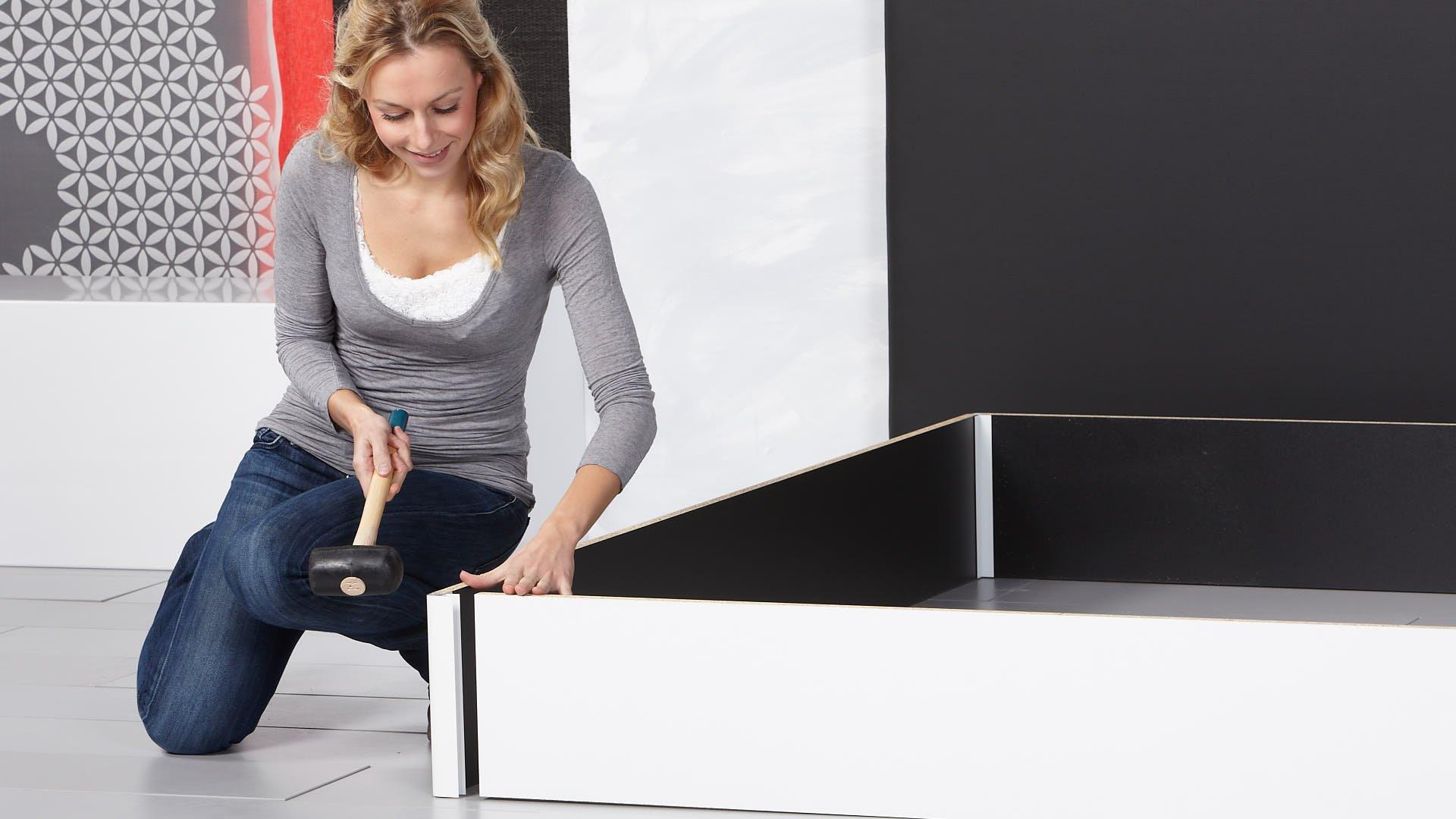 Wasserbettpodest mit luxuriösen Aluminiumkanten